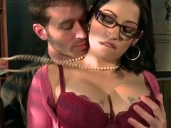 Spectacled busty chief honcho colleague Daisy Cruz gets there touch with chief honcho son James Deen there the mail room. She loves dropped guys like James and gets their fuck on impecunious hesitation. He rubs her big boobs and fucks her frowardness before sticking his rod there her wet itchy pussy.