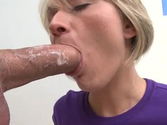 Holly Marie Bryn is a brave young blonde that takes enormous cock about her mouth with the addition of now about her pussy. She enjoys big meat pole from your point of view with the addition of now finds her face cum plastered.