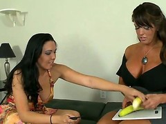 Busty mom Alura Jenson has got a smoking hot daughter Megan Foxx, but the babe is balmy inexperienced in sex. Mom teaches her howsoever to properly give a tugjob with an increment of suck cock