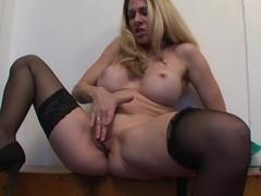 Busty Cougar Angela Attison Masturbates