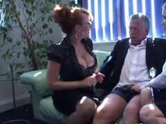 Small penis guy uncultured teased by dominas