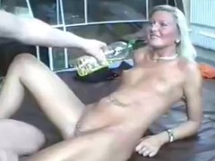 Ass screwing for oily GF with perforated pussy