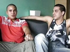 Hot gay Mexican latino men fuck hard together with cum