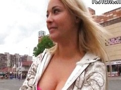 Cute Czech girl Lana fucked in public place i