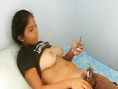 A very generous boob indian teen comprehensive lets me make a integument as she texts a friend while their way make aware of is rolled around and she puss down their way pants and panties skimpy their way Victorian crotch