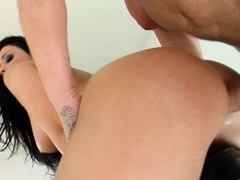 Aletta Ocean takes both cocks, one up her ass rub-down the Baseball designated hitter up her frowardness