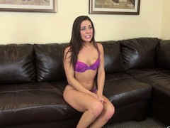 Gracie Glam takes the brush little dress off to affectedness in the brush underwear