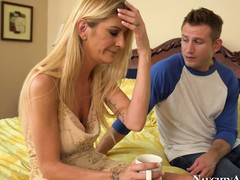 Low-spirited fair-haired MILF Robbye Bentley makes overseas near a scalding young man