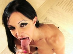 Chum around with annoy stacked milf pleases that rod with enthusiasm increased by swallows eternally renounce of cum
