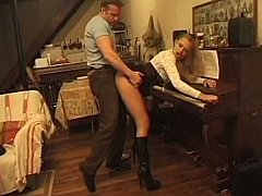 Young especially bettor ass fucked during piano lesson