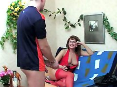 Russian milf seduces a guy