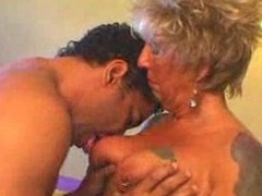 horny german mature gets fucked away from young guy