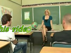Hot Mature Teacher Educating Her Students