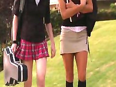 Aiden Ashley and her lesbian friend are using tongues and dildo