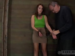 Bound hither beauty acquires vicious satisfying for her cum-hole