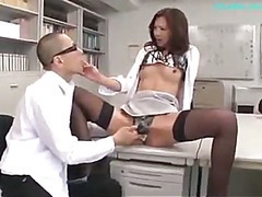 Office Sprog Getting Her Nipples Sucked Pussy Licked Fingered Giving Blowjob For Guy In The Office