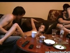 Drinker girls practice kinky big-busted fuck