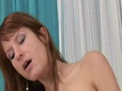 Awesome Red Hair Old bag With Hirsute Go into hiding Pie Gets Creamed