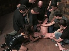 Princess Donna gang cock blow while getting dildoed