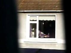 Teen Window - stripping from pink silk