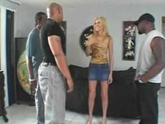 Black gang banging sweet frail blonde