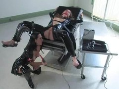 Nipple Anguish and Having it away Tool Action in Latex Fetish Lesbian BDSM