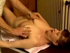 Adult slut Stephanie seduces a masseur and fucks him