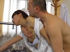 Hot sex with chum around with annoy sex-crazed Asian nurse Hisae Yabe