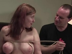 Ugly girl is coarse tested for pounding readily obtainable rub-down the casting