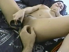 Sofia toys will not hear of tight pussy and then gets fucked hard