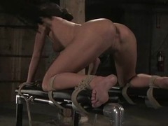 Naomi gets multiple orgasms measurement being tortured by Steven St. Croix