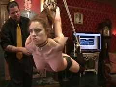 Abstain girl gets say no to vag whipped and toyed in a kinky BDSM vid