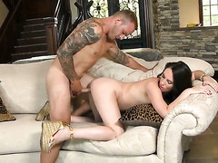 Adult lets alms-man put his alms-man muscle in her mouth