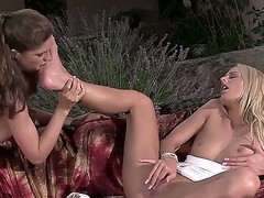 Charlotta coupled with Chelsey Lanette are horny lesbians who love to lick their sexy feet really authoritatively
