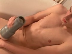 Sexual relations toy grasps that twink cock ergo well
