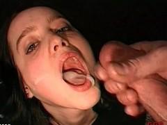 Cumshots enraptured yon this crestfallen bukkake porn