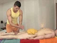 Hawt hunk gets a dreadful anal ride herd on from gay masseur