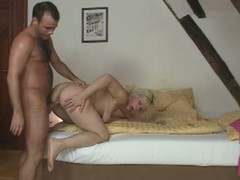 Horny mom fucks son-in-law