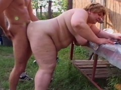 Fat granny sucking young bushwa to farm
