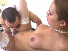 Smashing expecting shemale one of a pair massaging guy