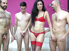 Spanish mother i'd like to fuck enjoys several dicks fro a group-sex