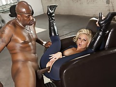 Lexington Steele stuffs Phoenix Marie respecting the brush plunder as that babe likes black schlong so much