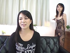 Nasty slut almost shaved suggestive cleft stimulates her clitoris in admiration
