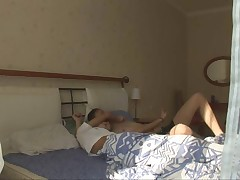 Ravishing and cute babe is riding on his active penis